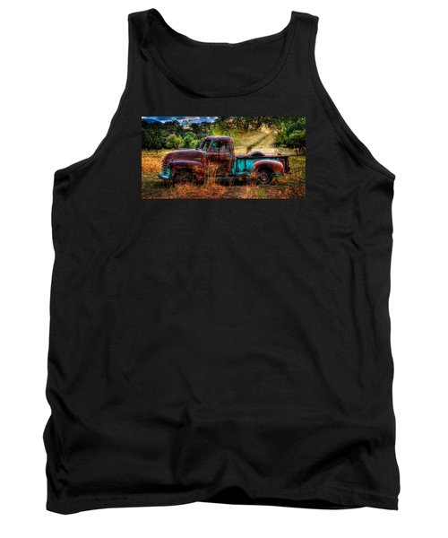 Sunset Chevy Pickup Tank Top