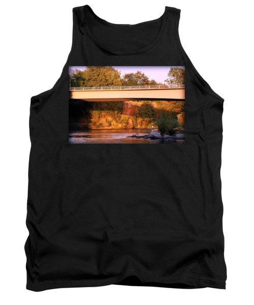 Tank Top featuring the photograph Sunset Dip by Melanie Lankford Photography