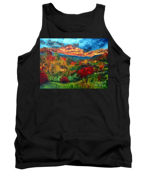 Sunset In Shenandoah Valley Tank Top