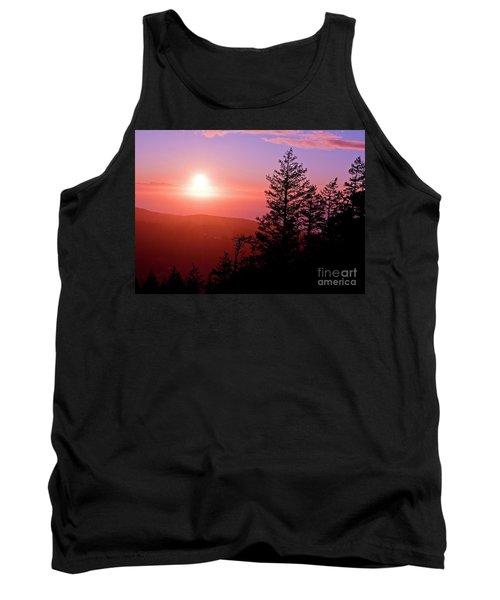 Sunset Off Mt Erie Washington Art Prints Tank Top