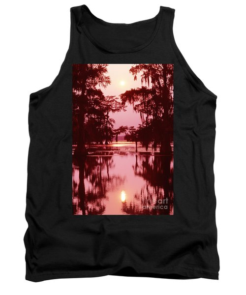 Tank Top featuring the photograph Sunset On The Bayou Atchafalaya Basin Louisiana by Dave Welling