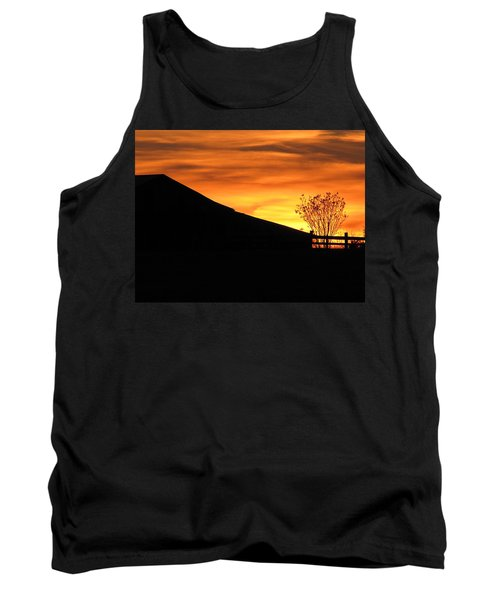 Tank Top featuring the photograph Sunset On The Farm by Greg Simmons