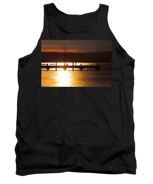 Sunset On The Pier Tank Top