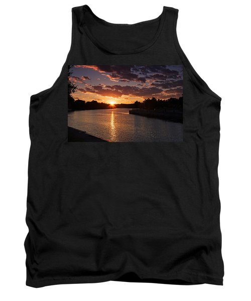 Sunset On The River Tank Top by Dave Files