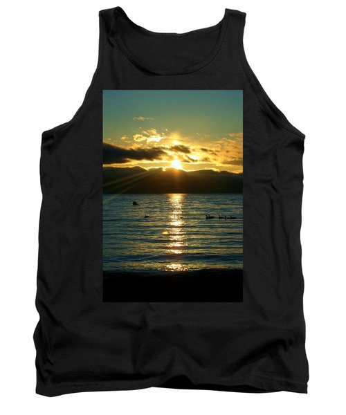 Sunset Over Lake Tahoe Tank Top by Ellen Heaverlo