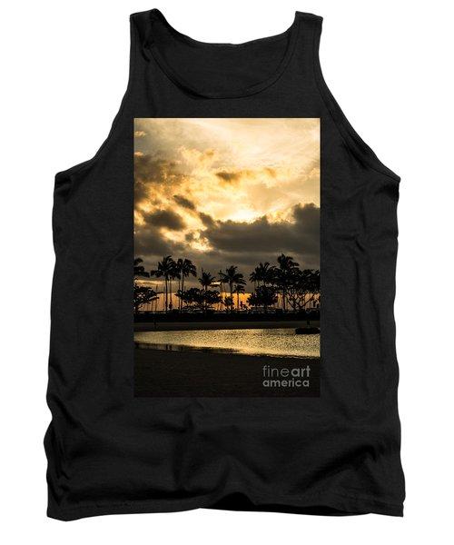 Sunset Over Waikiki Tank Top