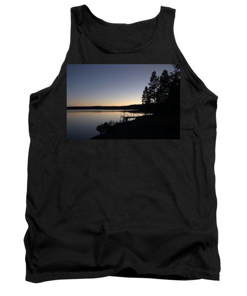 Sunset Over Yellowstone Lake Tank Top