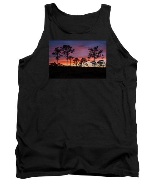 Tank Top featuring the photograph Sunset Pines by Paul Rebmann