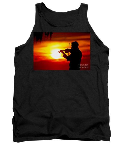Tank Top featuring the photograph Sunset Violin Serenade Louisiana by Luana K Perez