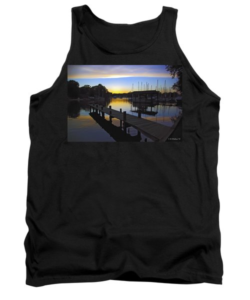 Tank Top featuring the photograph Sunset Silhouette by Brian Wallace