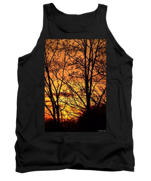 Sunset Silhouettes Behind The George Washington Masonic Memorial Tank Top by Jeff at JSJ Photography