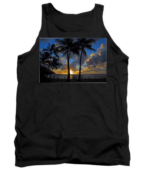 Sunset Silhouettes Tank Top by Lynn Bauer