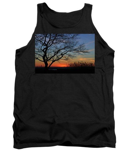 Sunset Tree In Ocean City Md Tank Top