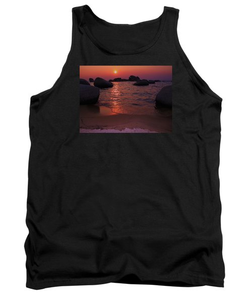 Tank Top featuring the photograph Sunset With A Whale by Sean Sarsfield