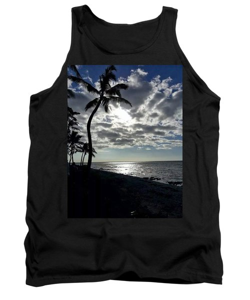 Sunset With Palm Trees Tank Top by Pamela Walton