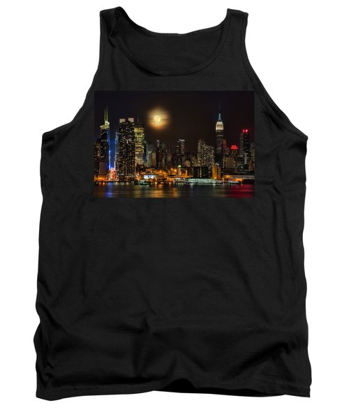 Super Moon Over Nyc Tank Top