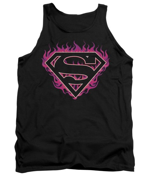 Superman - Fuchsia Flames Tank Top
