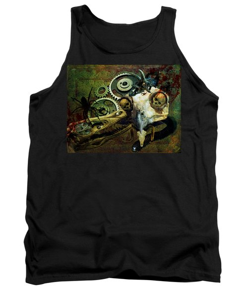 Tank Top featuring the painting Surreal Nightmare by Ally  White