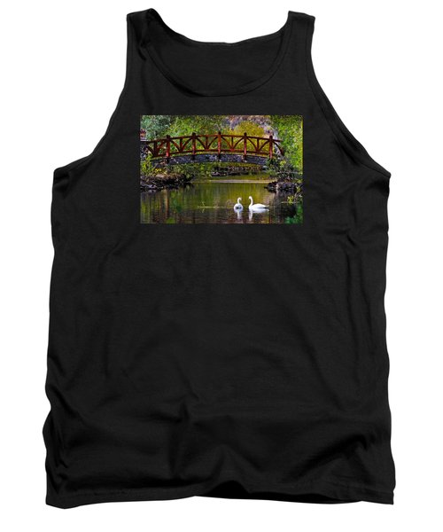 Swans At Caughlin Ranch II Tank Top by Janis Knight