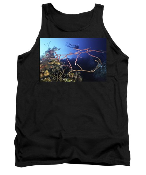 Swimming Over The Edge Tank Top