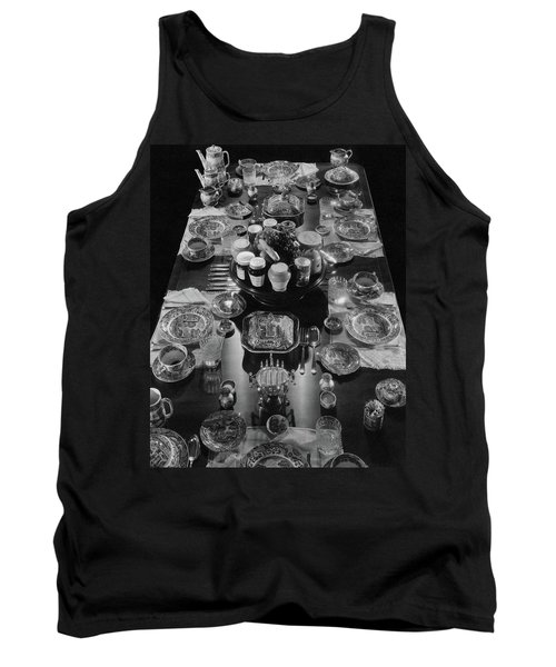 Table Settings On Dining Table Tank Top
