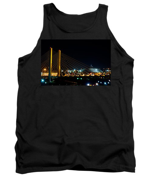 Tank Top featuring the photograph Tacoma Dome And Bridge by Tikvah's Hope