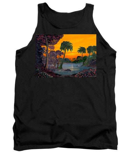 Tahitian Sunset Tank Top by Glenn Holbrook