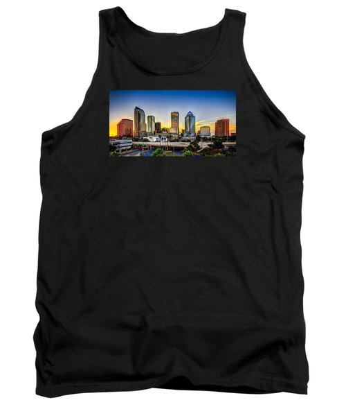Tampa Skyline Tank Top by Marvin Spates