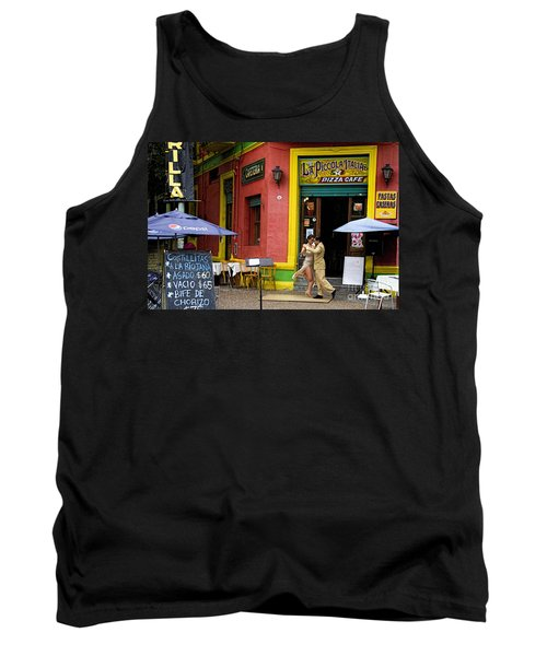 Tango Dancing In La Boca Tank Top by David Smith