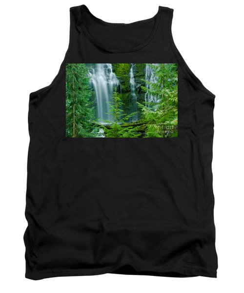 Pacific Northwest Waterfall Tank Top by Nick  Boren