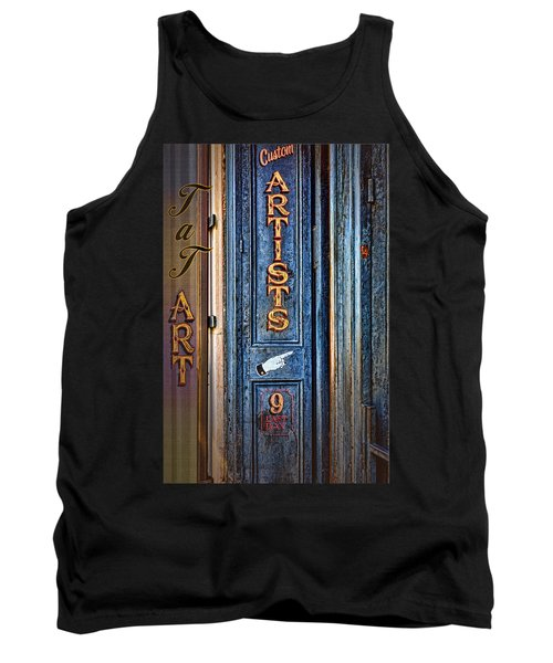 Tank Top featuring the photograph Tat Art by Larry Bishop