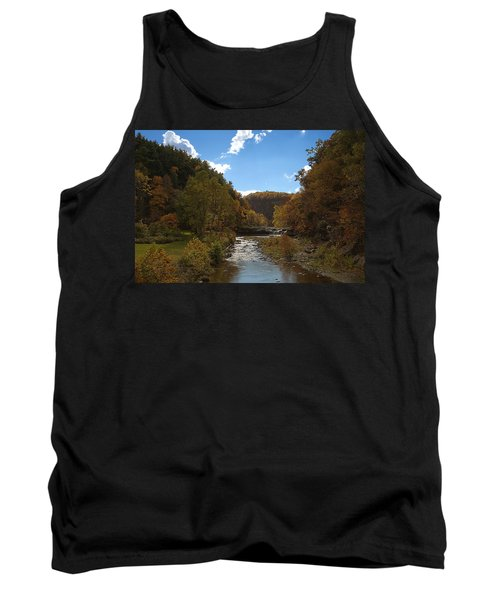 Tank Top featuring the photograph Taughannock Lower Falls Ithaca New York by Paul Ge