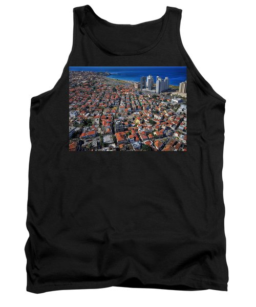 Tank Top featuring the photograph Tel Aviv - The First Neighboorhoods by Ron Shoshani