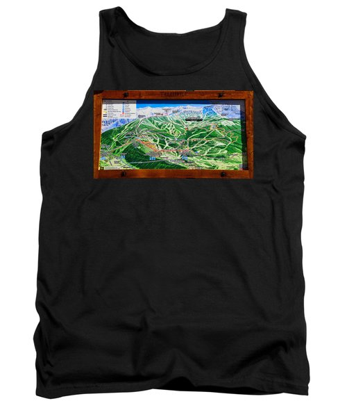 Telluride Ski Map Detail  Tank Top