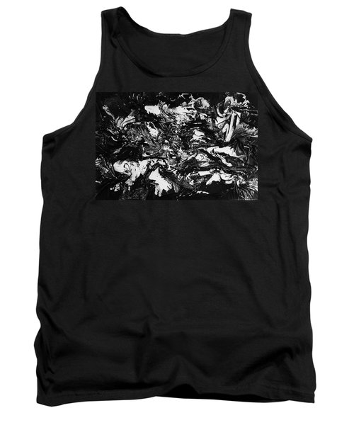 Textured Black And White Series 1 Tank Top