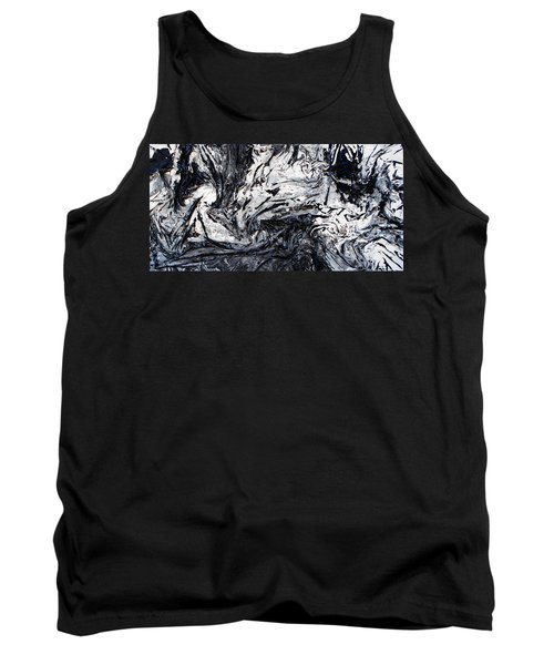 Textured Black And White Series 2 Tank Top