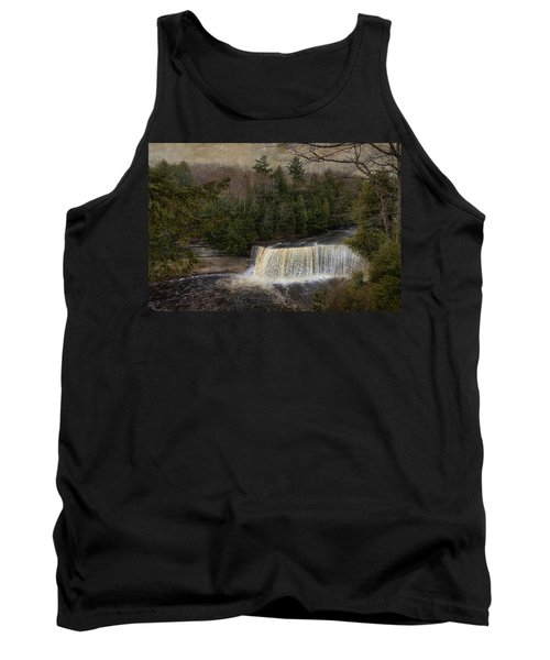 Textured Tahquamenon River Michigan Tank Top