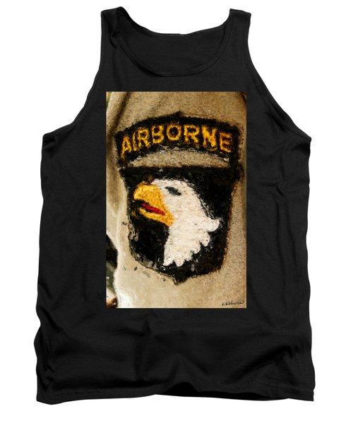 The 101st Airborne Emblem Painting Tank Top