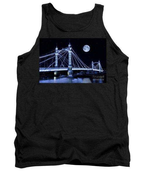 The Albert Bridge And The Moon Tank Top