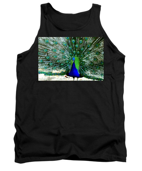 Tank Top featuring the photograph The Beautiful Plumage by Kathy  White