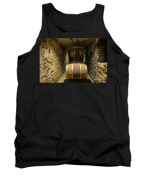 The Biltmore Estate Wine Barrels Tank Top by Luther Fine Art