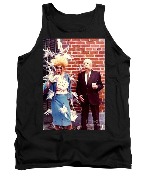 Tank Top featuring the photograph New Orleans The Birds And Alfred Hitchcock Mardi Gras Day In The French Quarter In Louisiana by Michael Hoard