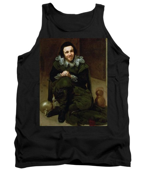 The Buffoon Calabacillas, Mistakenly Called The Idiot Of Coria, 1639 Oil On Canvas Tank Top