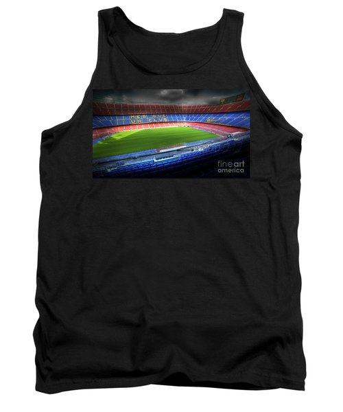 The Camp Nou Stadium In Barcelona Tank Top