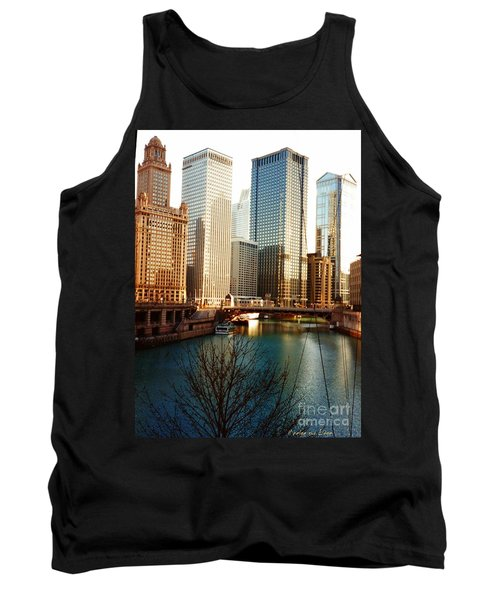 Tank Top featuring the photograph The Chicago River From The Michigan Avenue Bridge by Mariana Costa Weldon