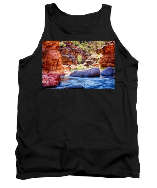 The Colors Of Oak Creek Tank Top by Fred Larson