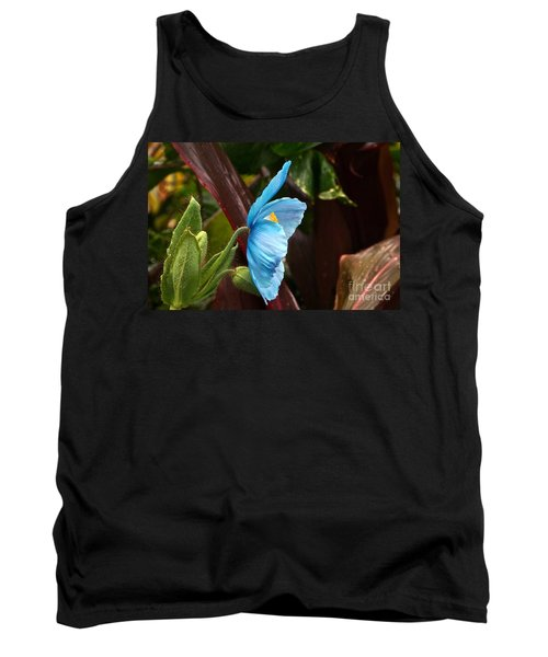 The Colors Of The Himalayan Blue Poppy Tank Top