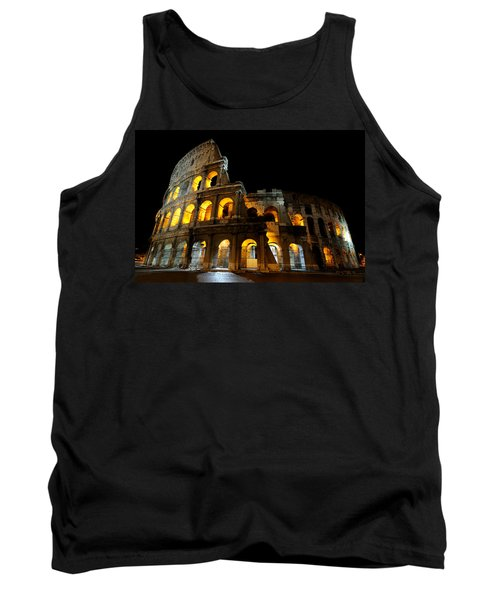 The Colosseum At Night Tank Top