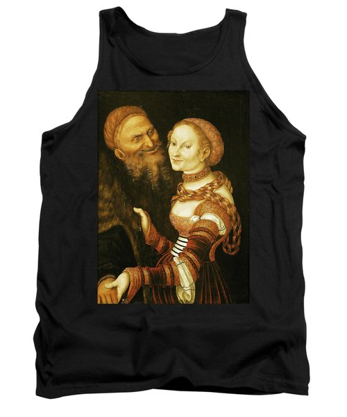 The Courtesan And The Old Man, C.1530 Oil On Canvas Tank Top