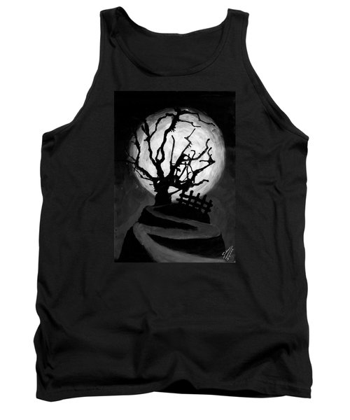 Tank Top featuring the painting The Crooked Tree by Salman Ravish